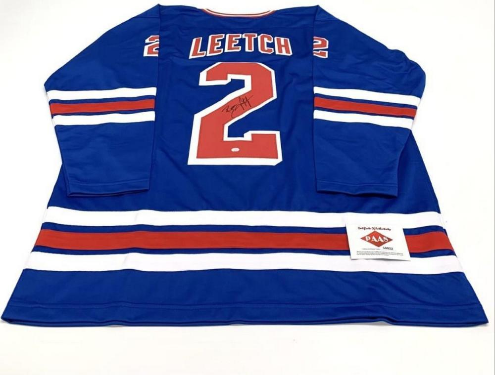 Authentic Autographed Brian Leetch #2 New York Rangers Home Jersey With COA