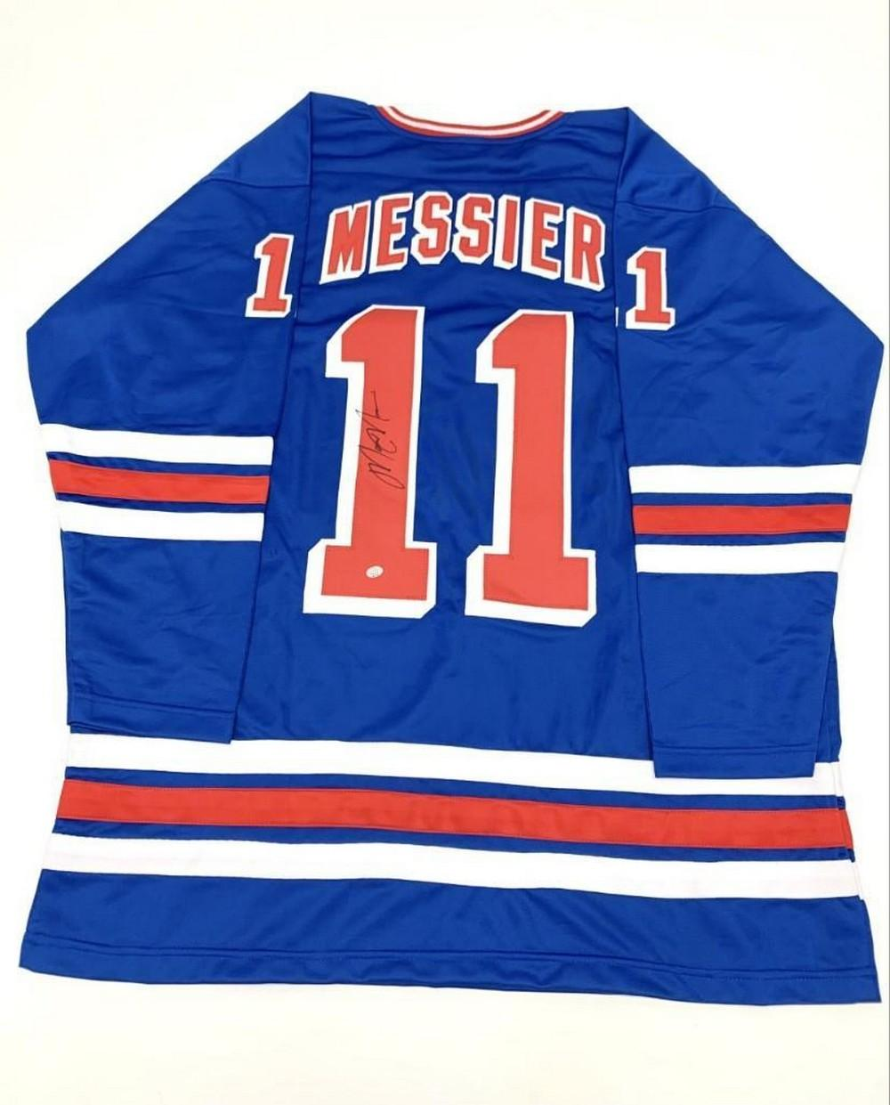 Authentic Autographed Mark Messier #11 New York Rangers Home Jersey With COA