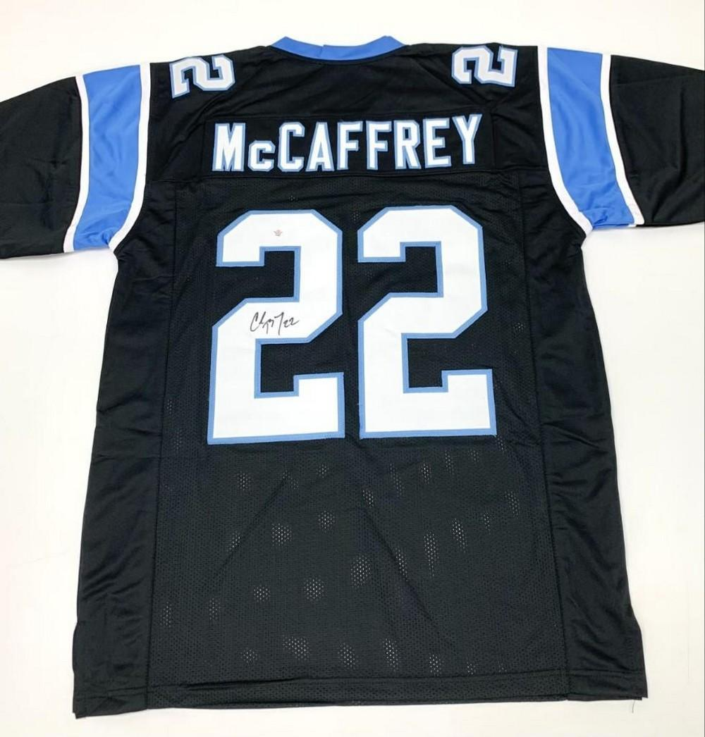 Authentic Autographed Christian McCaffrey #22 Carolina Panthers Home Jersey With COA