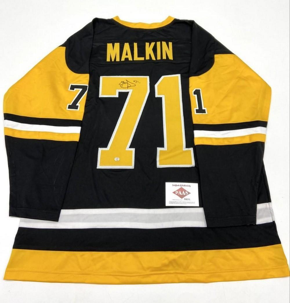 Authentic Autographed Evgeni Malkin #71 Pittsburgh Penguins Home Jersey With COA