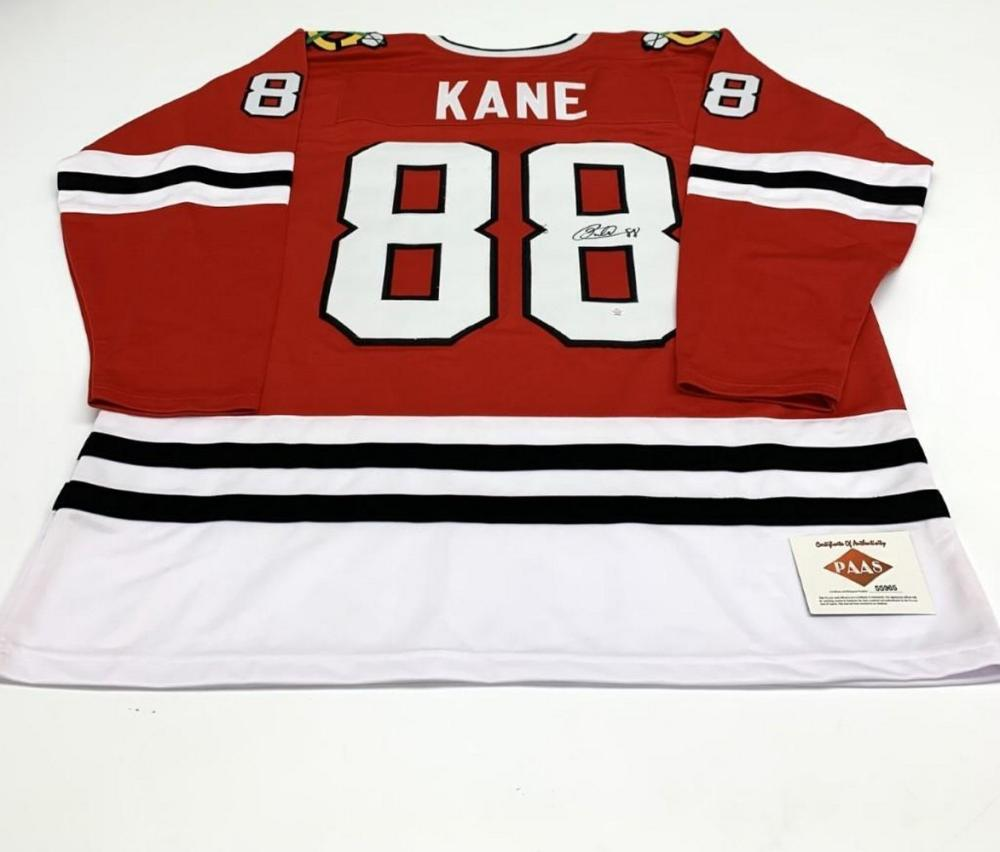 Authentic Autographed Patrick Kane #88 Chicago Blackhawks Home Jersey with COA
