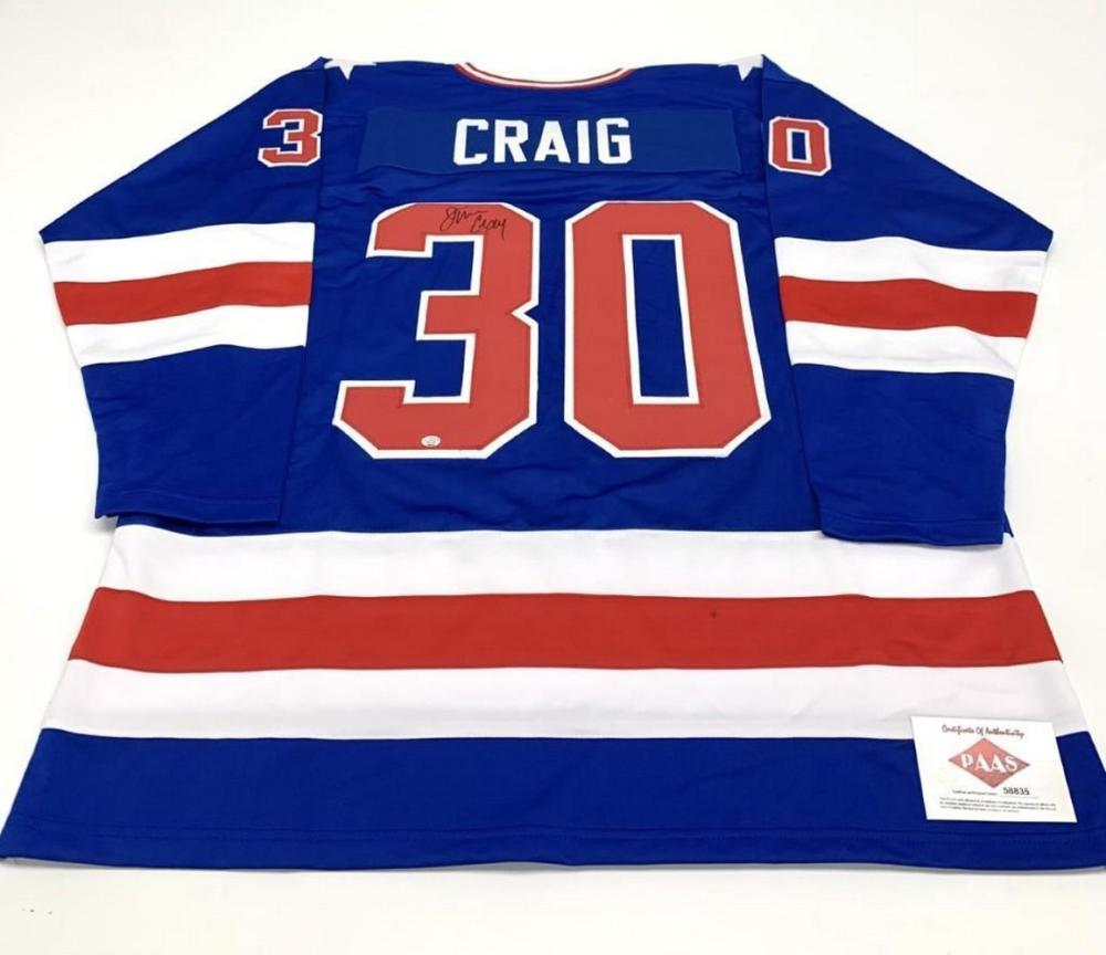 Authentic Autographed Jim Craig #30 Team USA Jersey with COA