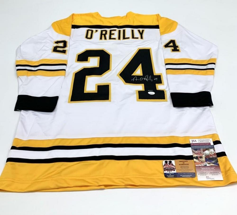Authentic Autographed Terry O'Reilly #24 Boston Bruins Alternate Away Jersey with COA