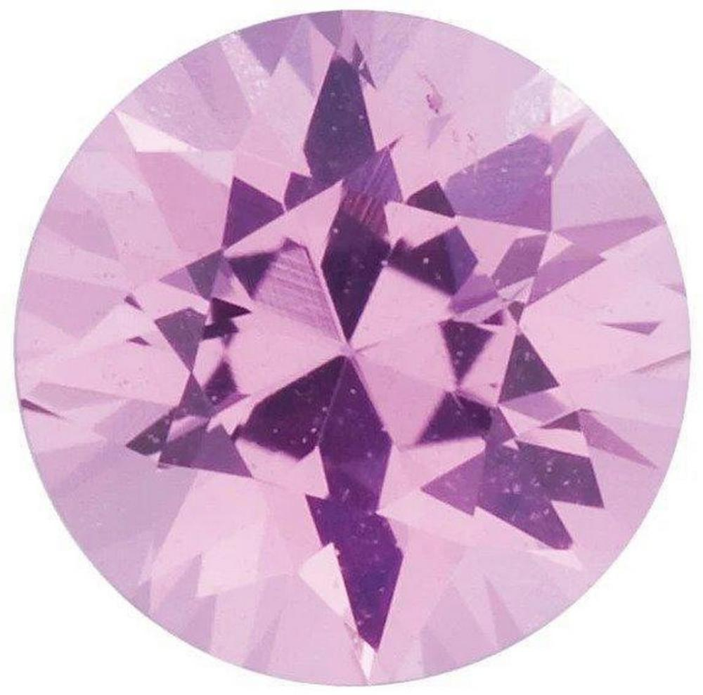 ROUND DIAMOND CUT NATURAL PINK SAPPHIRE - FINE AAA GRADE - SRI LANKA MINED