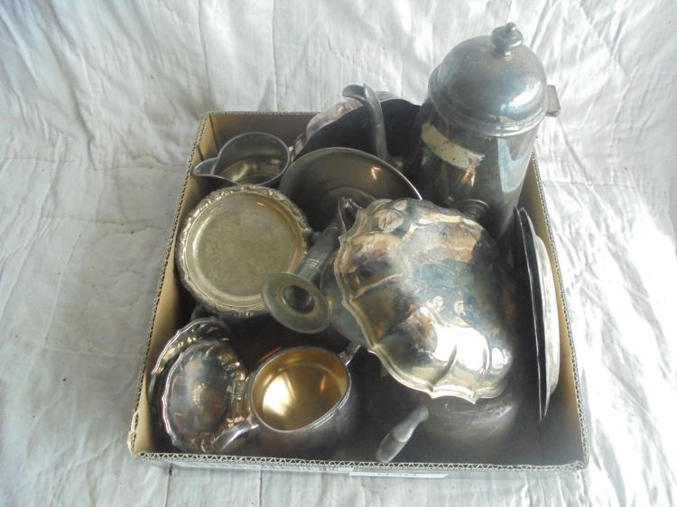 MISC  SILVER PLATE ITEMS