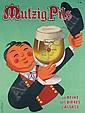 Morvan Mutzig Pils Beer Poster / Plakat, Hervé Morvan, Click for value