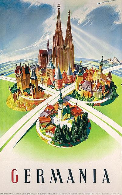 Germania Travel Poster / Plakat