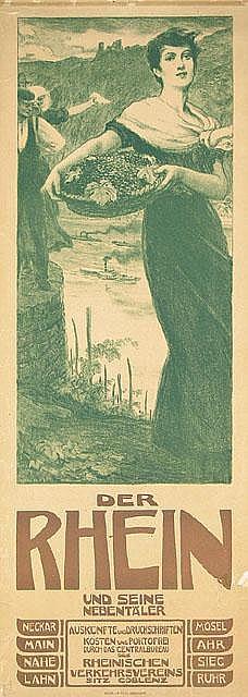 Der Rhein Travel Poster / Plakat