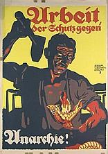 Suchodolski Arbeit - der Schutz gegen Anarchie! Poster / Plakat
