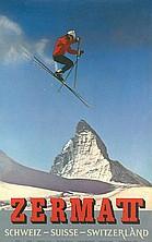 Zermatt Ski Travel Poster / Plakat