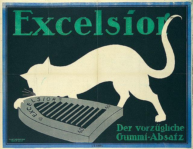 Zabel Excelsior Poster / Plakat 1912