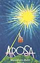 Original 1950s Donald Brun Arosa Swiss Travel Poster