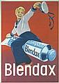 Great 1950s Blendax Toothpaste Advertising Poster
