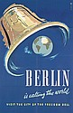 Original 1950s Berlin Travel Poster Plakat