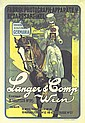 Original 1890s Photography Ad Poster Woman on Horse