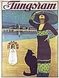 Rare Original 1910s TUNGSRAM Light Bulb Advert Poster