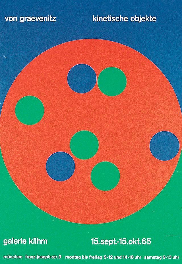 Original 1960s Modern Design Poster GRAEVENITZ