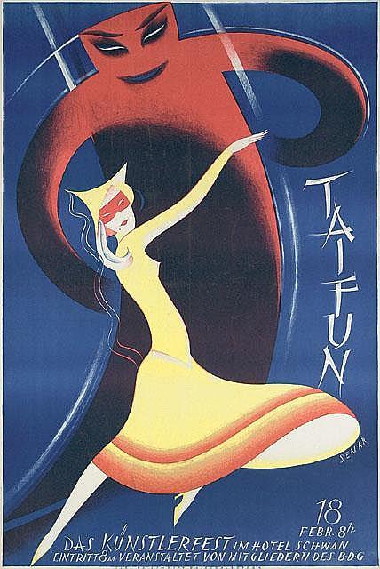 Original 1927 Taifun Artist Poster Plakat SEPP SEMAR