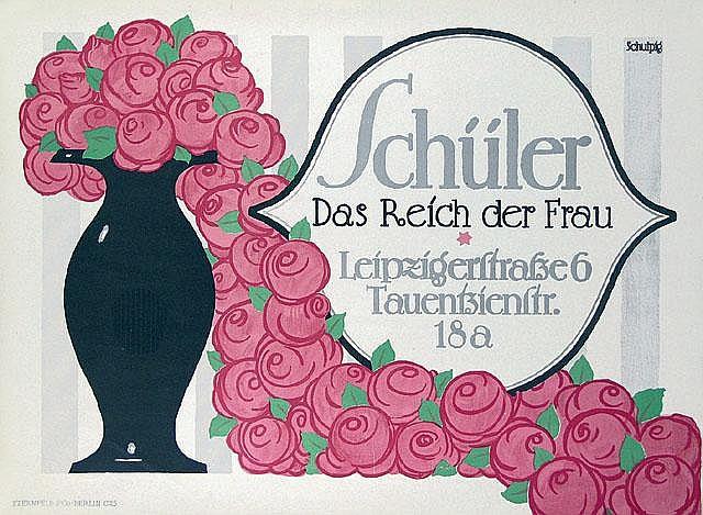 Original 1912 SCHULPIG Design Plakat Poster