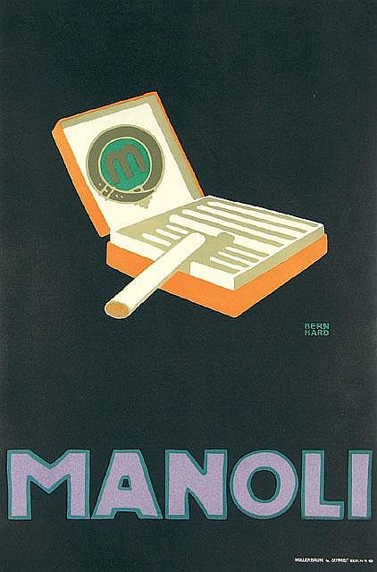 Original MANOLI Polakat Poster BERNHARD 1910