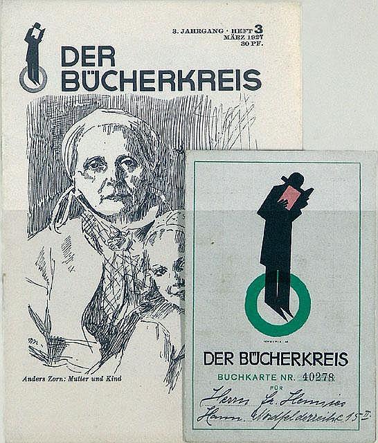 Original 1927KARL SCHULPIG Graphics Bücherkreis