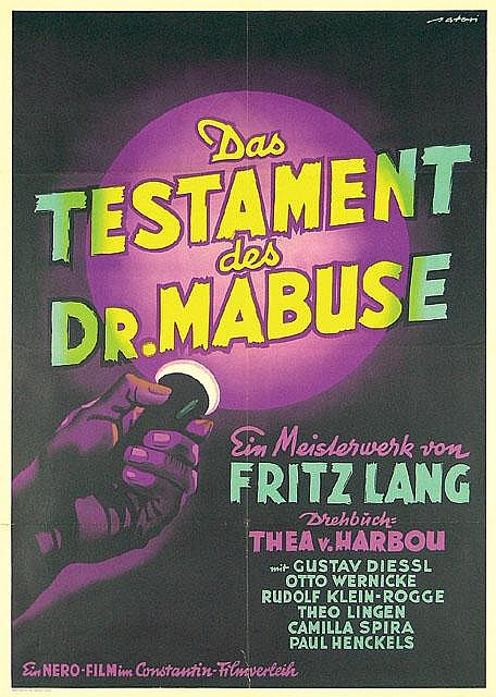 Original 1951 DR MABUSE Film Poster FRITZ LANG