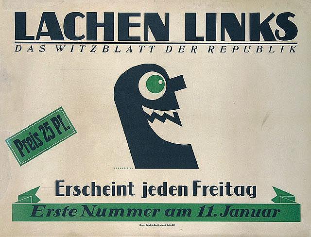 RARE Original German Schulpig Poster Plakat 1923