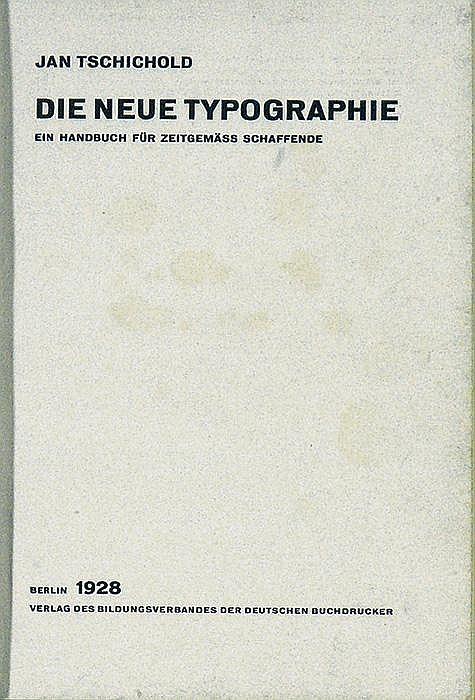 Original 1928 JAN TSCHICHOLD Book NEUE TYPOGRAPHIE