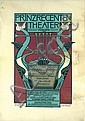 Beautiful Ornamental 1900s Art Nouveau Theater Poster, Julius Diez, Click for value