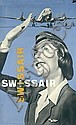 Original 1950s Swissair Travel Poster VIVARELLI Art, Carlo Vivarelli, Click for value