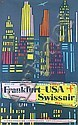 Original 1950s HENRI OTT Swissair USA Travel Poster, Henri Ott, Click for value