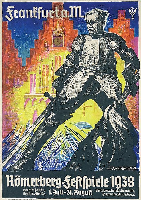 Original 1930s German Theater Poster Plakat