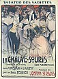 Original 1900s LA CHAUVRE SOURIS Poster Plakat, Georges Dola, Click for value
