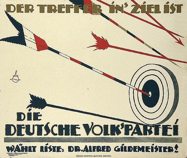 Original Politik Plakat 1924 German Propaganda Poster