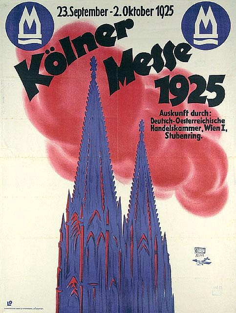 Original Plakat German Poster 1925 Kölner Messe
