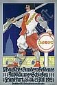 Original 1912 Bundeschiessen Plakat Poster Frankfurt