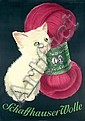 Original 1950 Schaffhauser Wolle Cat Poster LOOSER, Hans (1897) Looser, Click for value