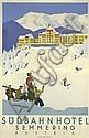 Original 1930s KOSEL Austria Ski Travel Poster Semmering