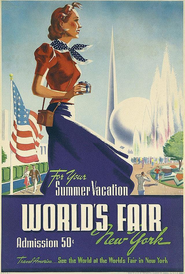 Original 1939 New York World's Fair Poster SMITH