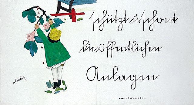 Original Erwin Kreibig Plakat Poster 1929