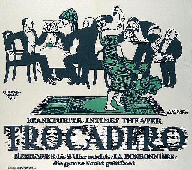 Original 1911 Trocadero Frankfurt Theater Poster