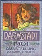 Original 1901 German Art Poster DARMSTADT Christiansen, Hans Christiansen, Click for value