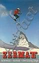 Original 1960s Zermatt Swiss Ski Travel Poster