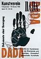 Original 1950s German Dada Exhibit Art Poster Plakat