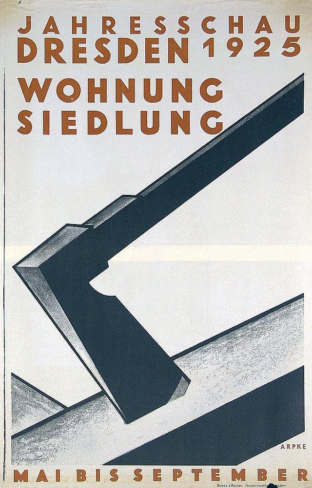 Original 1925 Dresden Plakat Poster Wohnung Siedlung
