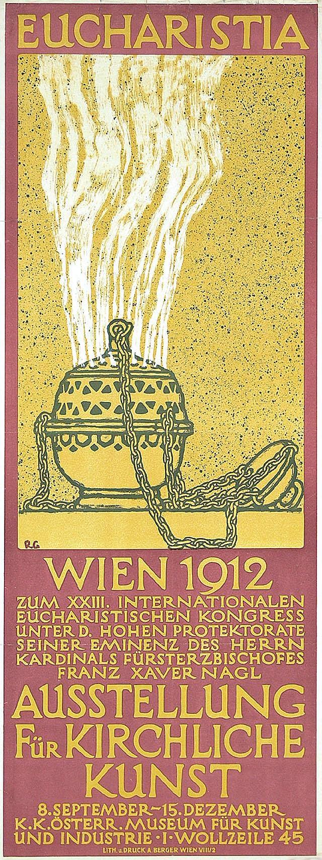 Original Austrian Church Art Poster Plakat 1912