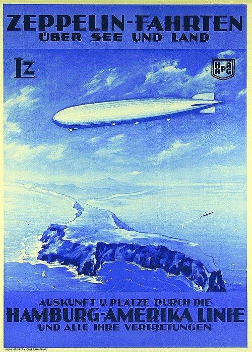 Original ZEPPELLIN Travel Plakat Poster 1934