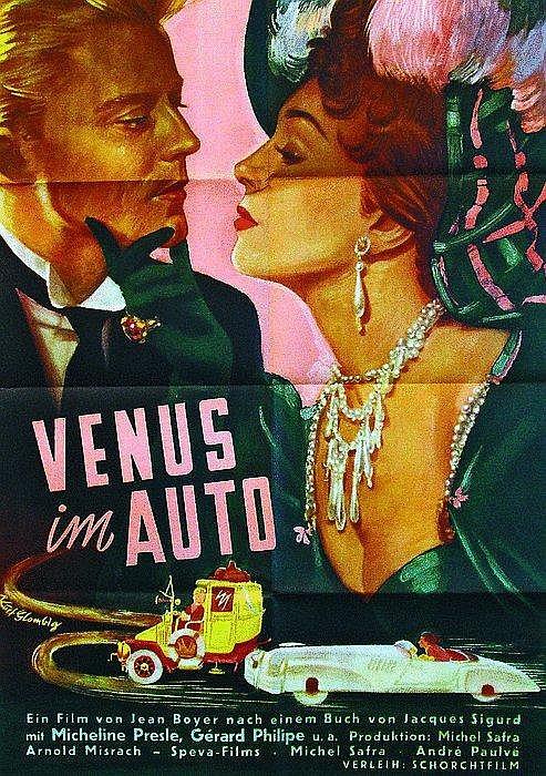 Original Venus Im Auto Plakate (2) 1950