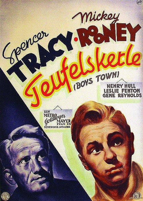 Original 1949 Boys Town Film Poster Plakat