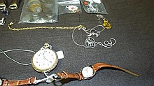 Misc. Jewelry Lot with Gold and Silver.